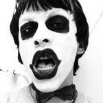非主流黑白头像图片 长地像鬼的小丑黑白头像 高清图片