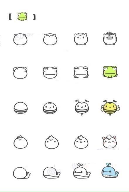 表情简笔画图片大全可爱 简笔画动物图画简单教程